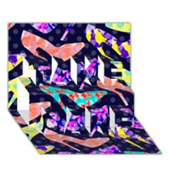 Colorful High Heels Pattern Take Care 3d Greeting Card (7x5) by DanaeStudio