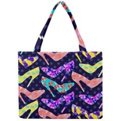 Colorful High Heels Pattern Mini Tote Bag by DanaeStudio