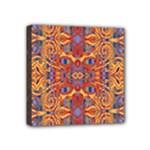 Oriental Watercolor Ornaments Kaleidoscope Mosaic Mini Canvas 4  x 4