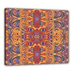 Oriental Watercolor Ornaments Kaleidoscope Mosaic Canvas 24  x 20