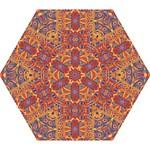 Oriental Watercolor Ornaments Kaleidoscope Mosaic Mini Folding Umbrellas
