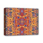Oriental Watercolor Ornaments Kaleidoscope Mosaic Deluxe Canvas 14  x 11