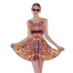 Oriental Watercolor Ornaments Kaleidoscope Mosaic Skater Dress
