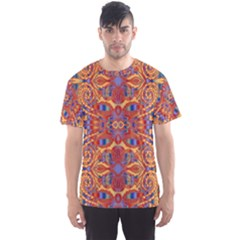Oriental Watercolor Ornaments Kaleidoscope Mosaic Men s Sport Mesh Tee by EDDArt