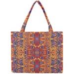 Oriental Watercolor Ornaments Kaleidoscope Mosaic Mini Tote Bag