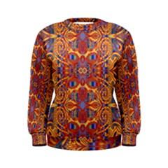 Oriental Watercolor Ornaments Kaleidoscope Mosaic Women s Sweatshirt by EDDArt
