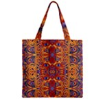Oriental Watercolor Ornaments Kaleidoscope Mosaic Zipper Grocery Tote Bag