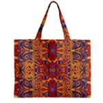 Oriental Watercolor Ornaments Kaleidoscope Mosaic Zipper Mini Tote Bag
