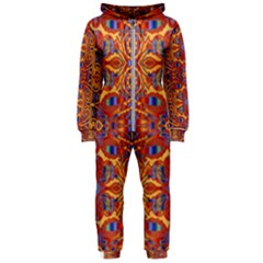 Oriental Watercolor Ornaments Kaleidoscope Mosaic Hooded Jumpsuit (ladies)  by EDDArt