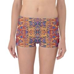 Oriental Watercolor Ornaments Kaleidoscope Mosaic Boyleg Bikini Bottoms by EDDArt
