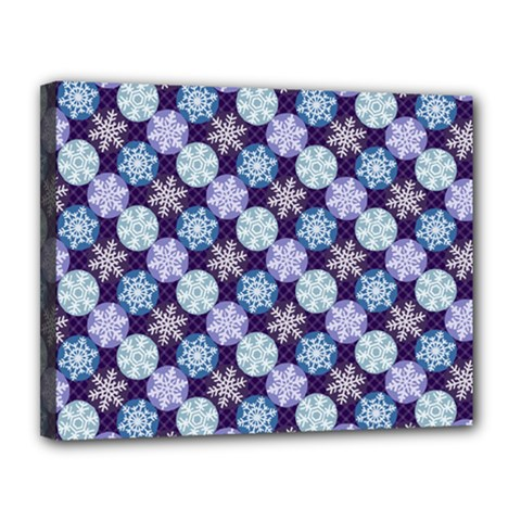 Snowflakes Pattern Canvas 14  X 11  by DanaeStudio