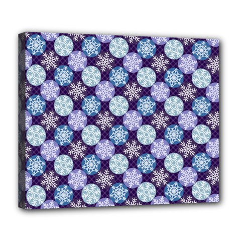 Snowflakes Pattern Deluxe Canvas 24  X 20   by DanaeStudio