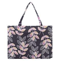 Winter Beautiful Foliage  Medium Zipper Tote Bag by DanaeStudio