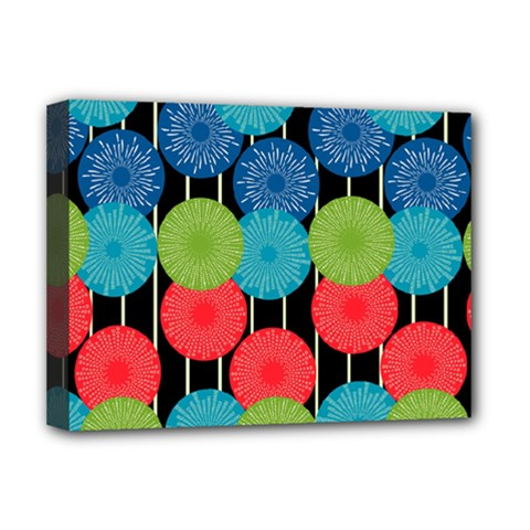 Vibrant Retro Pattern Deluxe Canvas 16  X 12   by DanaeStudio