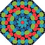 Vibrant Retro Pattern Hook Handle Umbrellas (Large)