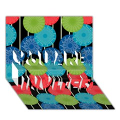 Vibrant Retro Pattern You Are Invited 3d Greeting Card (7x5) by DanaeStudio