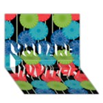 Vibrant Retro Pattern YOU ARE INVITED 3D Greeting Card (7x5)