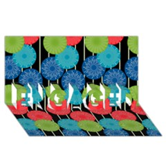 Vibrant Retro Pattern Engaged 3d Greeting Card (8x4) by DanaeStudio