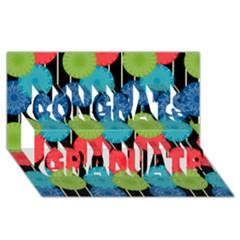 Vibrant Retro Pattern Congrats Graduate 3d Greeting Card (8x4) by DanaeStudio