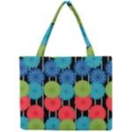 Vibrant Retro Pattern Mini Tote Bag