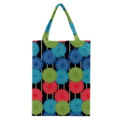 Vibrant Retro Pattern Classic Tote Bag by DanaeStudio