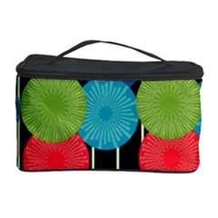 Vibrant Retro Pattern Cosmetic Storage Case by DanaeStudio