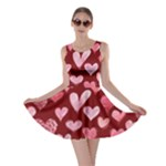 Watercolor Valentine s Day Hearts Skater Dress