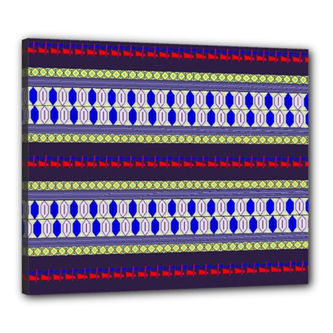 Colorful Retro Geometric Pattern Canvas 24  X 20  by DanaeStudio