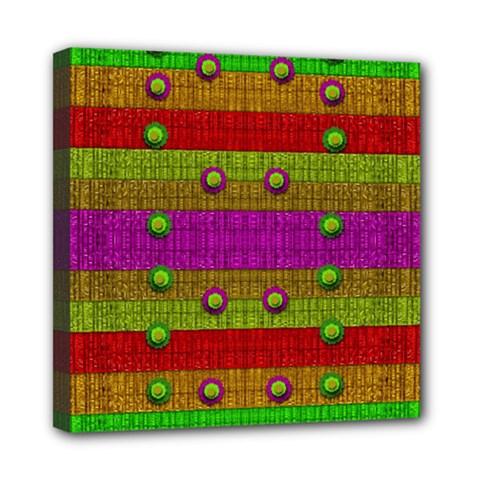 A Wonderful Rainbow And Stars Mini Canvas 8  X 8  by pepitasart