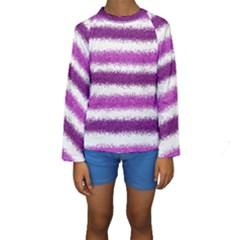 Pink Christmas Background Kids  Long Sleeve Swimwear by Zeze