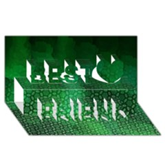 Ombre Green Abstract Forest Best Friends 3d Greeting Card (8x4) by DanaeStudio