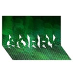 Ombre Green Abstract Forest SORRY 3D Greeting Card (8x4)