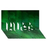 Ombre Green Abstract Forest HUGS 3D Greeting Card (8x4)