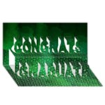 Ombre Green Abstract Forest Congrats Graduate 3D Greeting Card (8x4)
