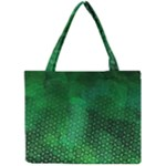 Ombre Green Abstract Forest Mini Tote Bag