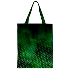 Ombre Green Abstract Forest Zipper Classic Tote Bag by DanaeStudio