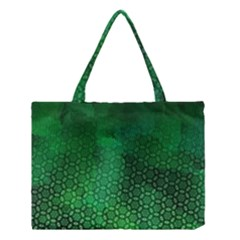 Ombre Green Abstract Forest Medium Tote Bag by DanaeStudio