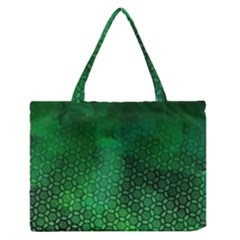 Ombre Green Abstract Forest Medium Zipper Tote Bag by DanaeStudio