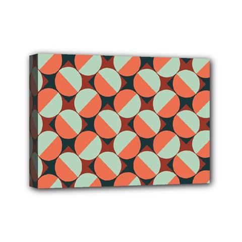 Modernist Geometric Tiles Mini Canvas 7  X 5  by DanaeStudio