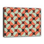 Modernist Geometric Tiles Canvas 16  x 12