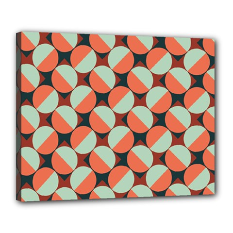 Modernist Geometric Tiles Canvas 20  X 16  by DanaeStudio