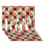 Modernist Geometric Tiles BOY 3D Greeting Card (7x5)