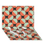 Modernist Geometric Tiles LOVE Bottom 3D Greeting Card (7x5)