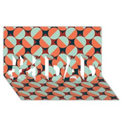 Modernist Geometric Tiles #1 Dad 3d Greeting Card (8x4) by DanaeStudio