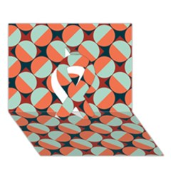 Modernist Geometric Tiles Ribbon 3d Greeting Card (7x5) by DanaeStudio
