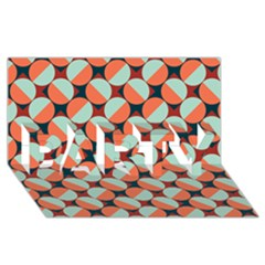 Modernist Geometric Tiles Party 3d Greeting Card (8x4) by DanaeStudio