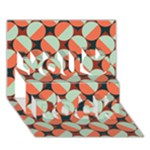 Modernist Geometric Tiles You Rock 3D Greeting Card (7x5)