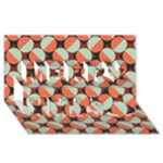 Modernist Geometric Tiles Merry Xmas 3D Greeting Card (8x4)