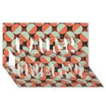 Modernist Geometric Tiles Laugh Live Love 3D Greeting Card (8x4)