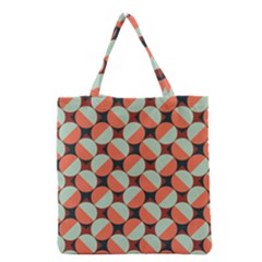 Modernist Geometric Tiles Grocery Tote Bag by DanaeStudio
